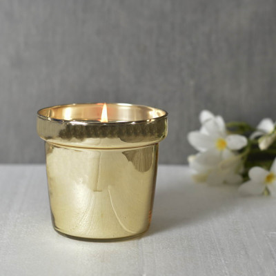 Lustre Glass Candle Holder 4.5 inches tall