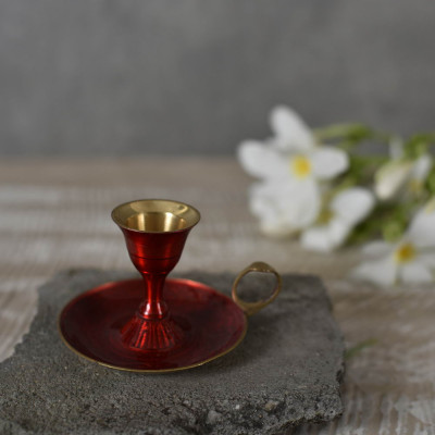 Red Mina Candle Holder 3 inches
