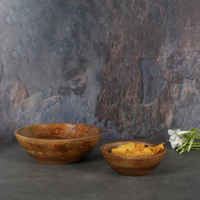 Aachman Snack Wooden Bowl 6.5 inches