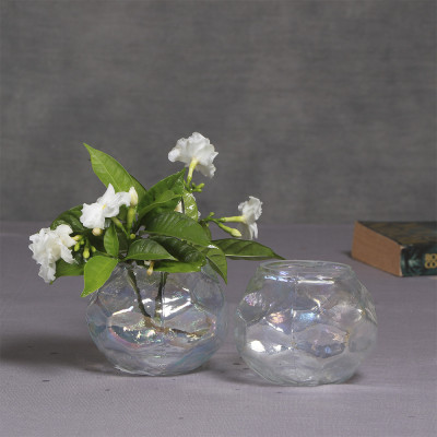 Manor House Rainbow Glass Votive cum Vase 4 inches