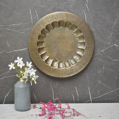 Medha Wall Plate Etched 24 inches