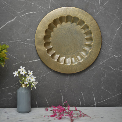 Medha Wall Plate Etched 12 inches