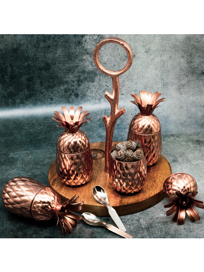 Manor House Pinapple Decorative Mukhwas Supari Set- Copper Finish